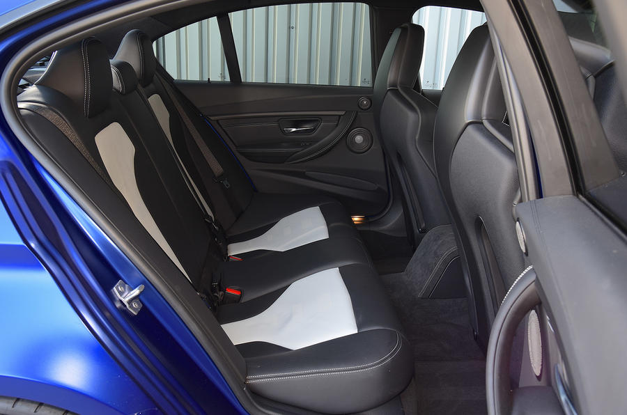 BMW M3 CS 2018 UK first drive review rear seats