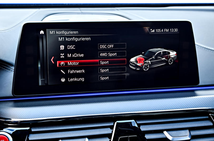 BMW M5 Competition 2018 first drive review infotainment