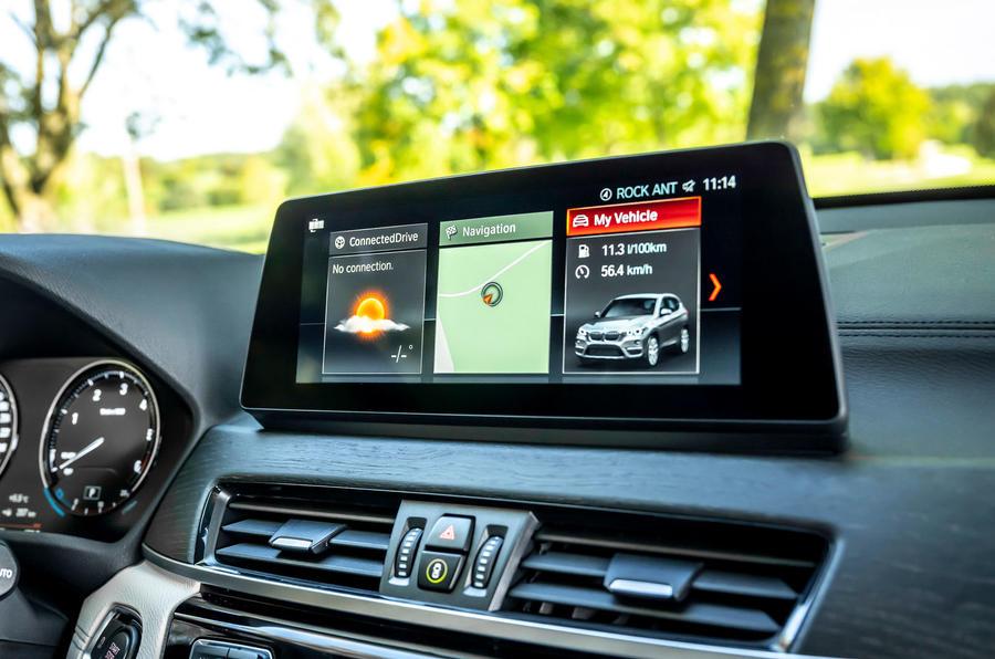 BMW X1 25d 2019 first drive review - infotainment