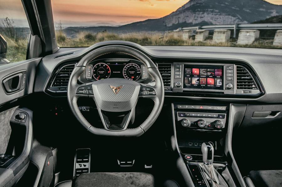 Cupra Ateca 2018 first drive review - dashboard