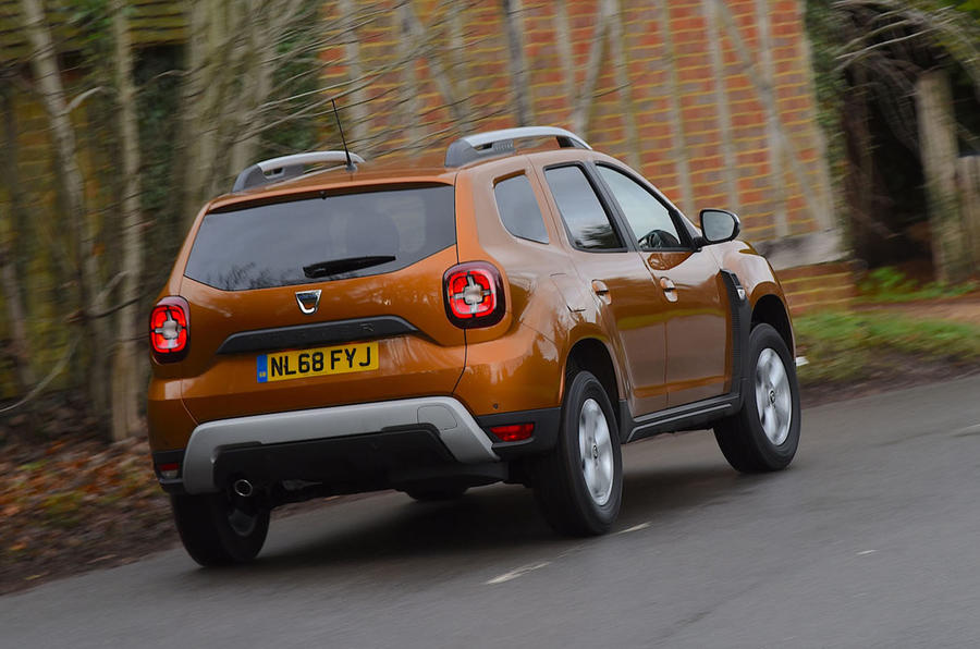 Dacia Duster 2019 long-term review - on the road rear