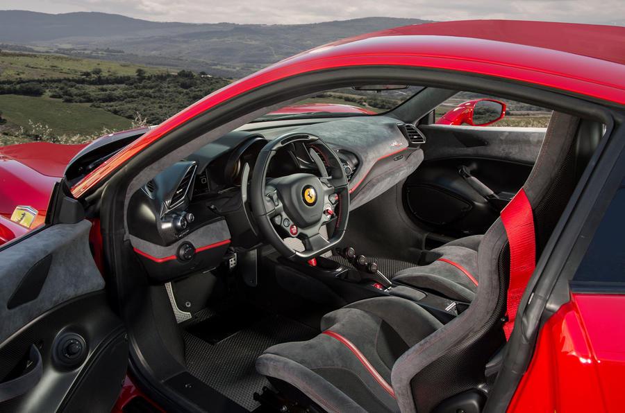 Ferrari 488 Pista 2018 review cabin
