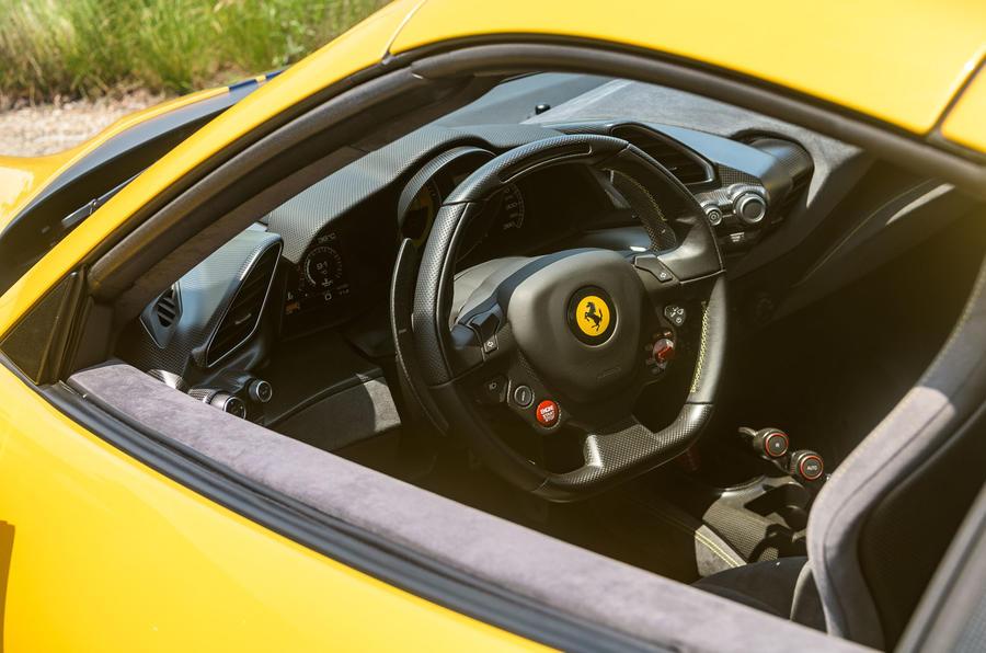 Ferrari 488 Pista Spider 2019 first drive review - cabin