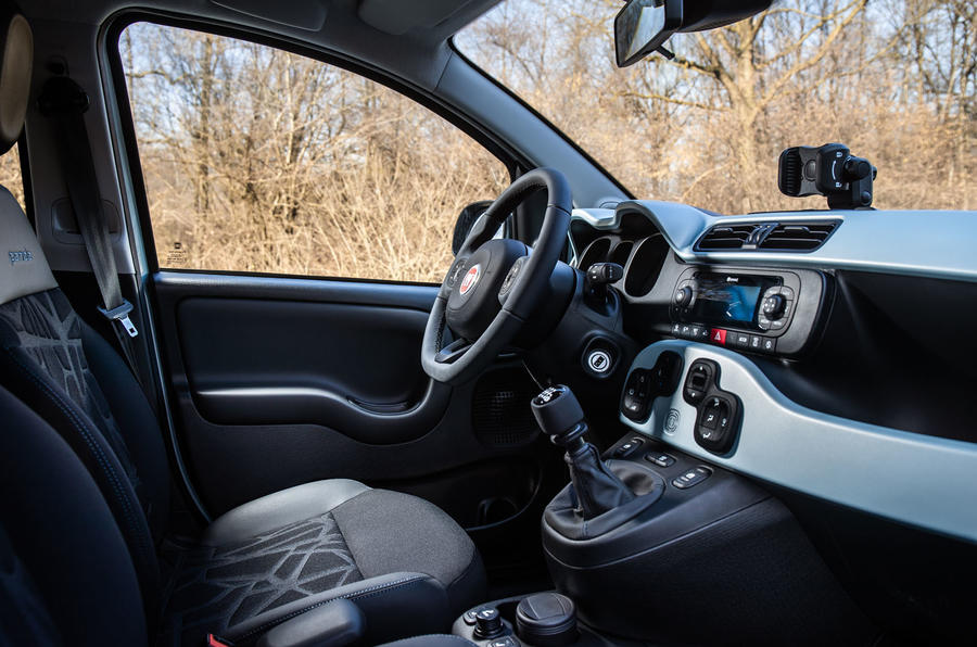 Fiat Panda Cross Hybrid 2020 first drive review - cabin