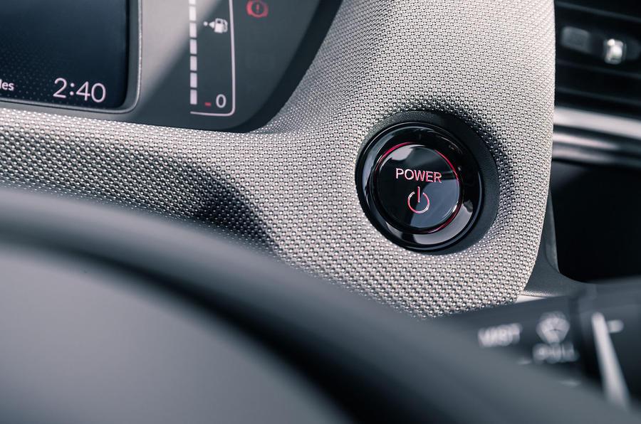Honda Jazz Crosstar 2020 UK first drive review - start button