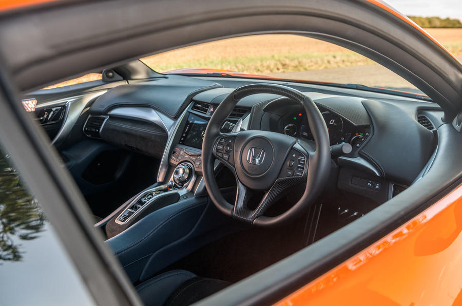 Honda NSX 2019 UK first drive review - cabin