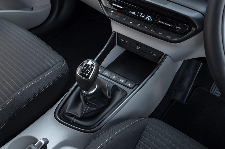 Hyundai i20 2020 UK first drive review - gearstick