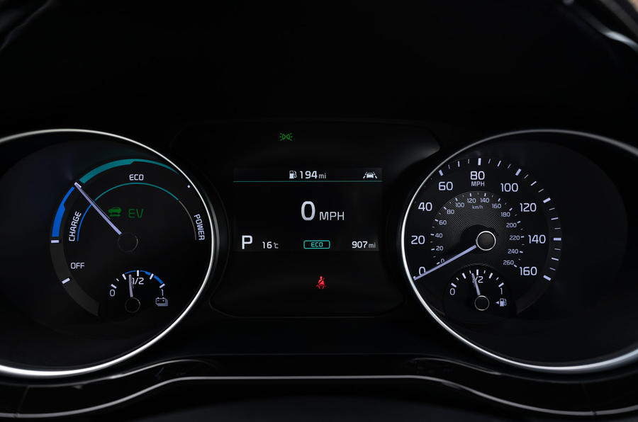 Kia Xceed plug-in hybrid 2020 UK first drive review - instruments