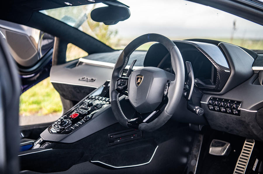 Lamborghini Aventador SVJ 2018 UK first drive review - cabin