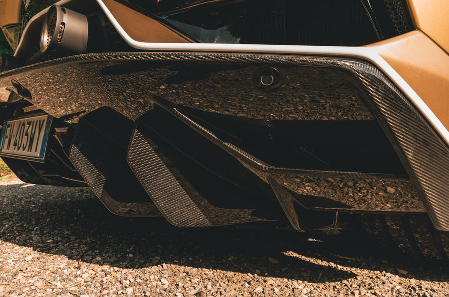 Lamborghini Aventador SVJ Roadster 2019 first drive review - rear diffuser