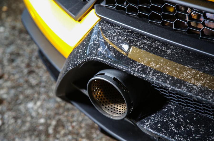 Lamborghini Huracan Performante Spyder 2018 UK review exhaust