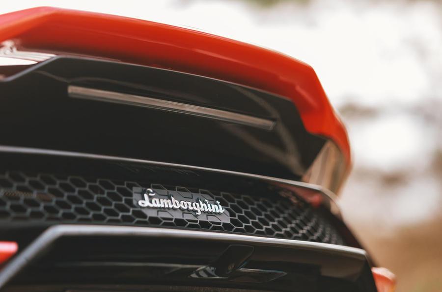 Lamborghini Huracán Spyder 2020 UK first drive review - rear spoiler
