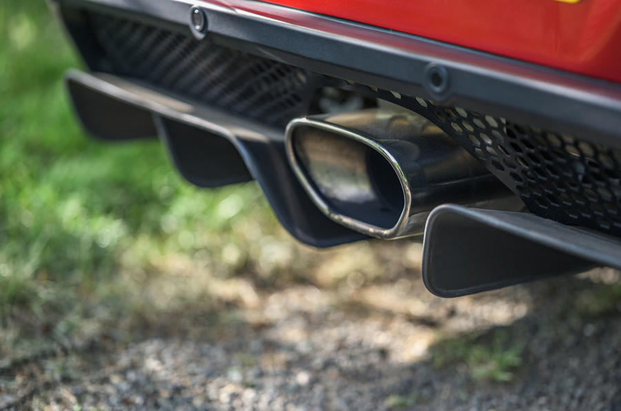 Lotus evora GT410 2020 UK first drive review - exhaust