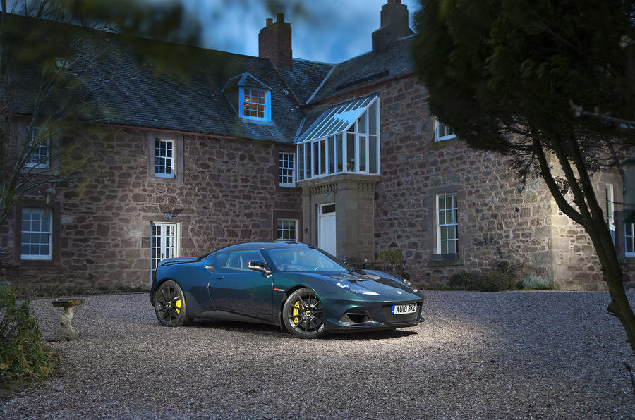 Lotus Evora GT410 Sport 2018 UK review static night