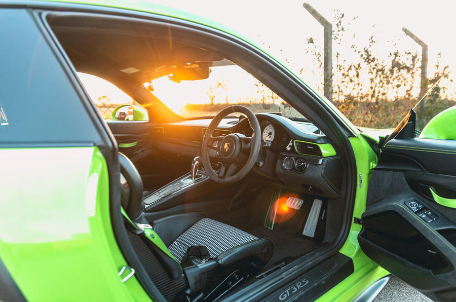 Manthey 911 GT3 RS MR 2020 first drive review - cabin