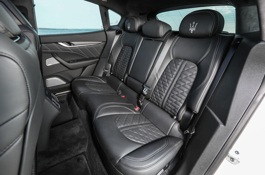 Maserati Levante Gransport 2018 UK first drive review rear seats