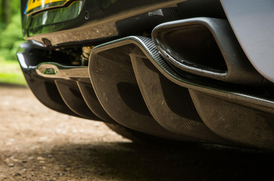McLaren 570S Spider Track Pack 2018 UK review exhaust
