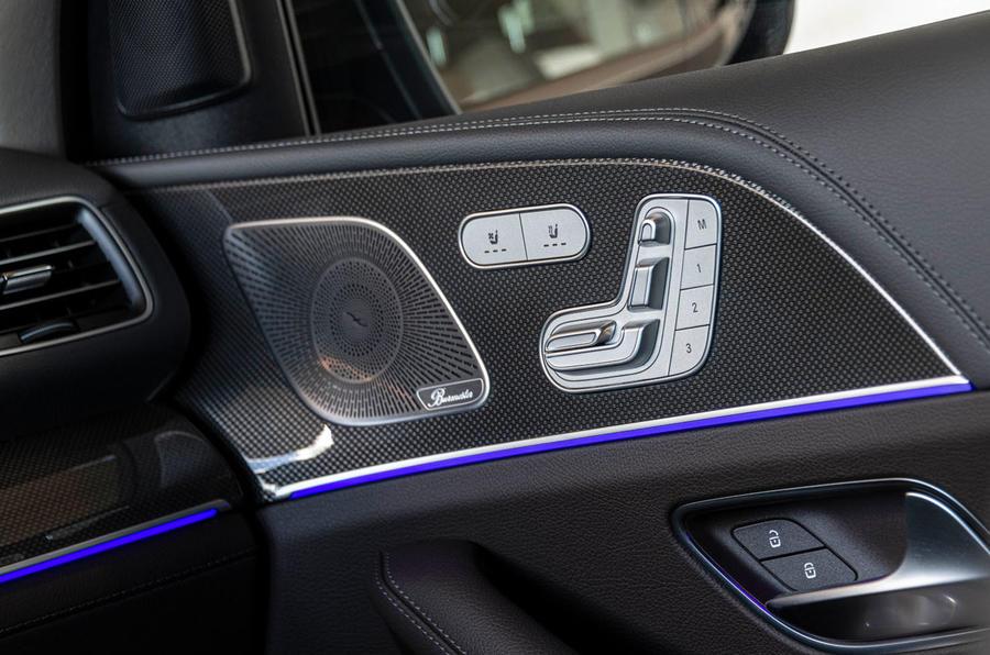 Mercedes-Benz GLS 400D 2019 first drive review - door cards