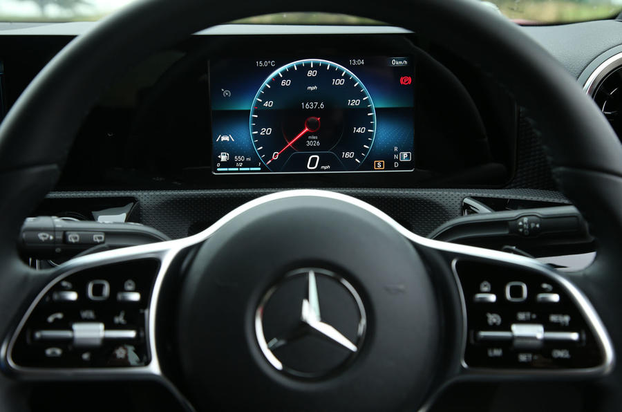 Mercedes-Benz A-Class 2018 long-term review - instrument cluster