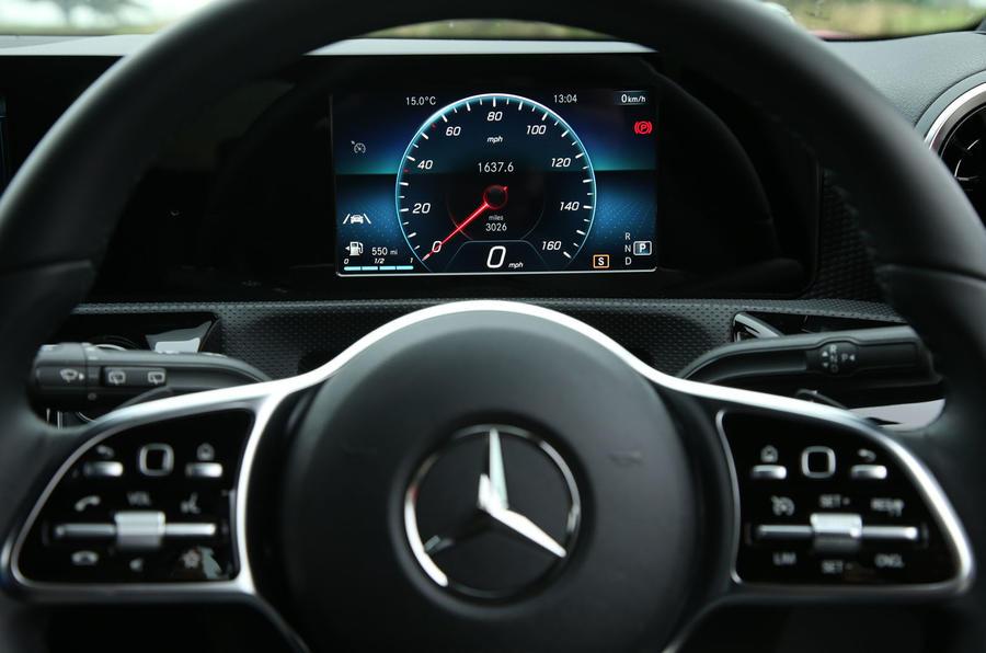 Mercedes-Benz A-Class 2018 long-term review - instrument cluster