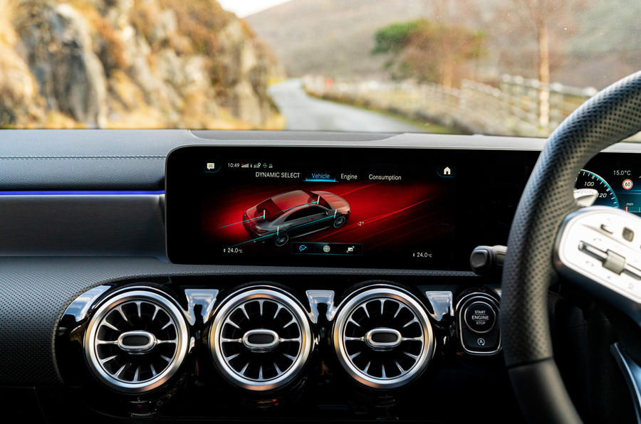 Mercedes-AMG CLA35 2020 UK first drive review - infotainment
