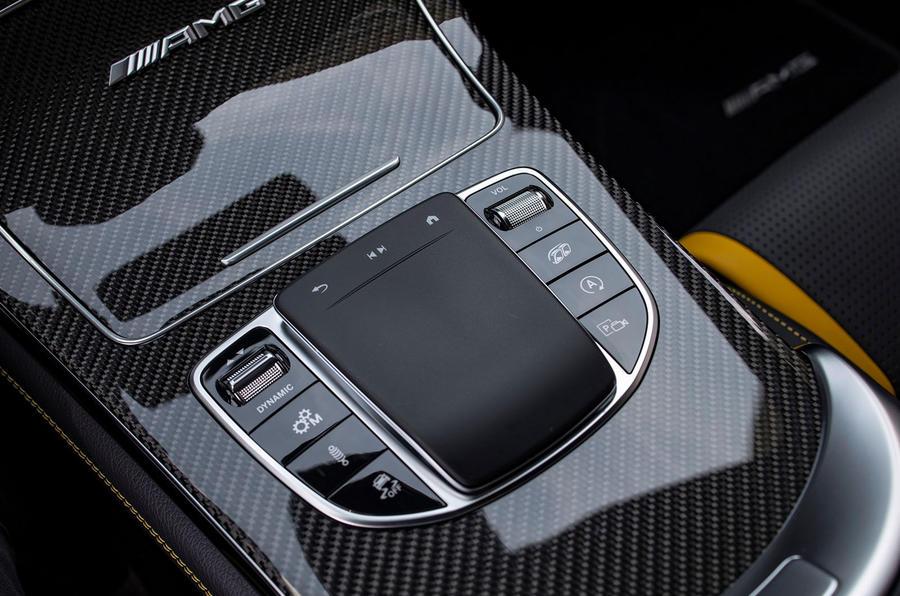 Mercedes-AMG GLC 63 S Coupé 2019 first drive review - centre console