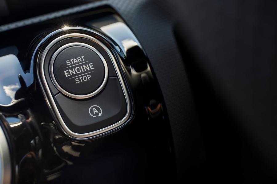Mercedes-Benz CLA 250 2019 UK first drive review - start button