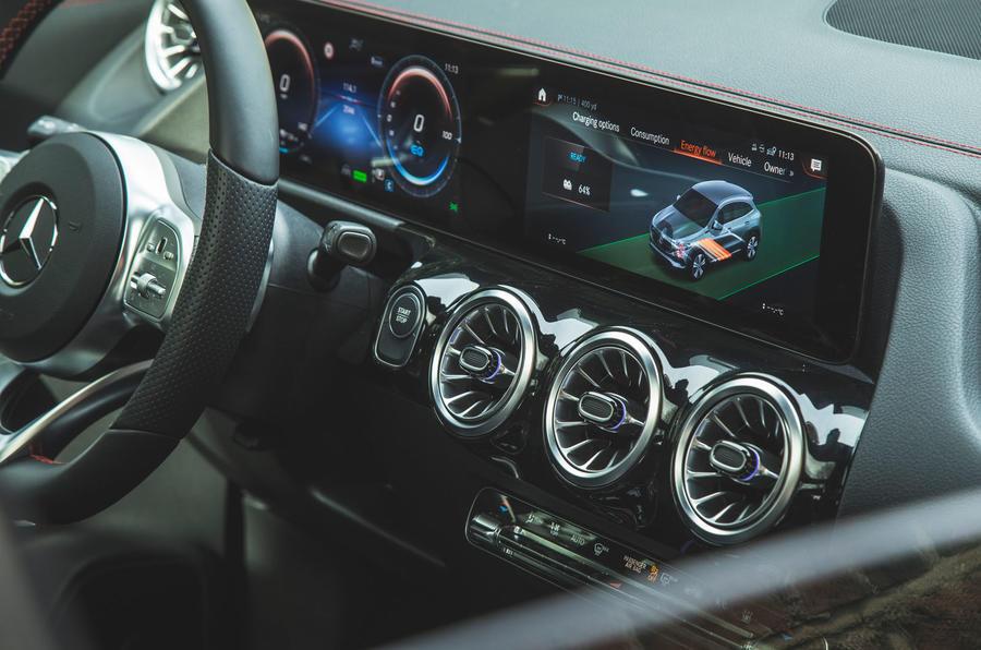 11 Mercedes Benz EQA 2021 : le Royaume-Uni examine pour la première fois les bouches d'aération