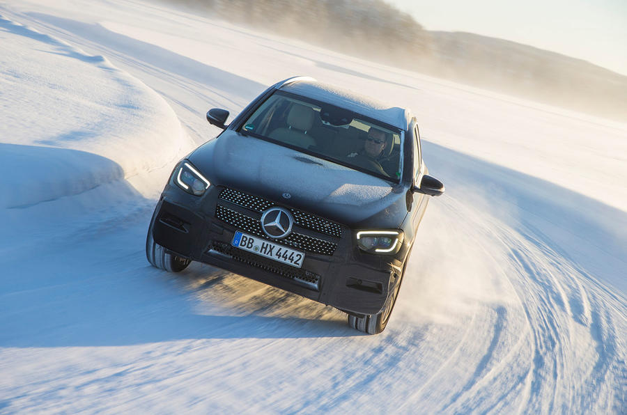 Mercedes-Benz GLC 300 2019 prototype drive - cornering