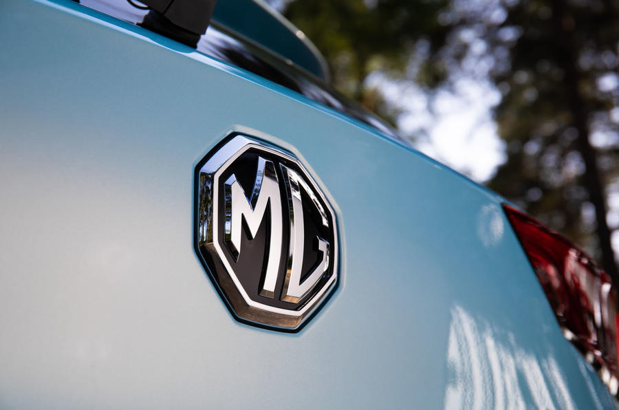 MG ZS EV 2019 UK first drive review - rear badge