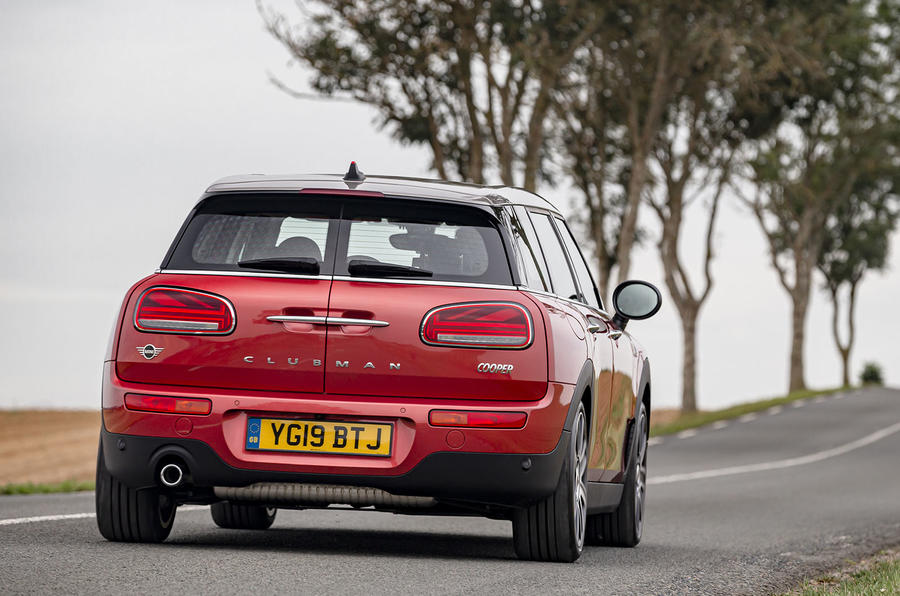 Mini Clubman Cooper 2019 first drive review - on the road rear