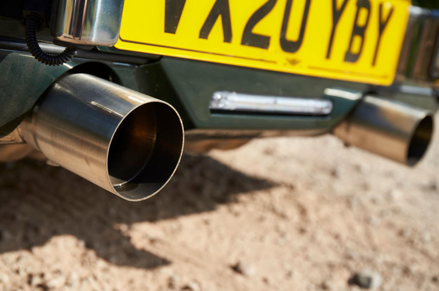 Morgan Plus Four 2020 UK first drive review - exhausts
