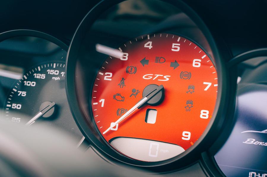 Porsche 718 Boxster GTS 4.0 2020 UK first drive review - dials
