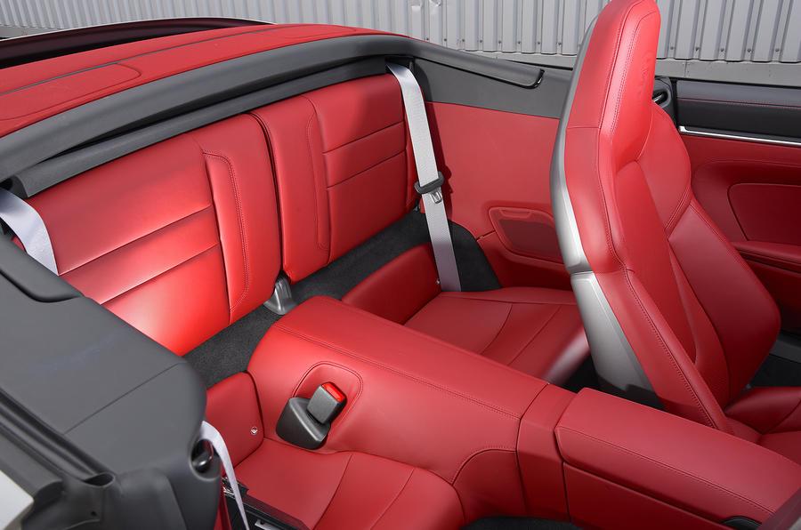 Porsche 911 Carrera 4S Cabriolet 2019 UK first drive review - rear seats