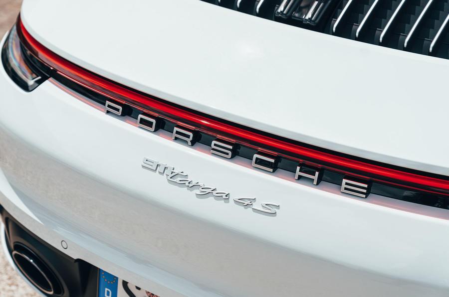 Porsche 911 Targa 2020 UK first drive review - rear badge