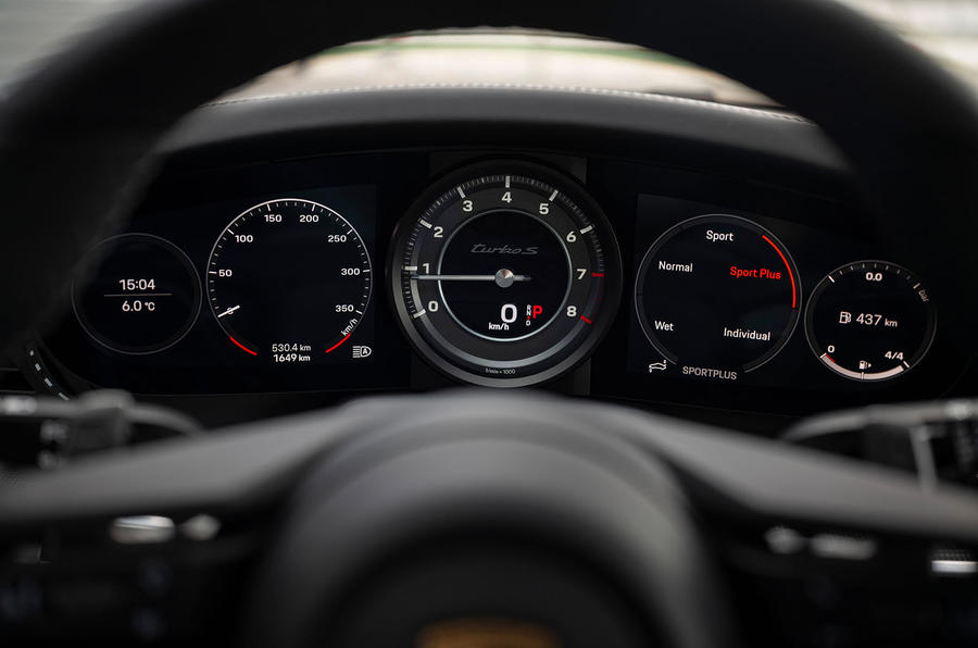 Porsche 911 Turbo S 2020 first drive review - instruments