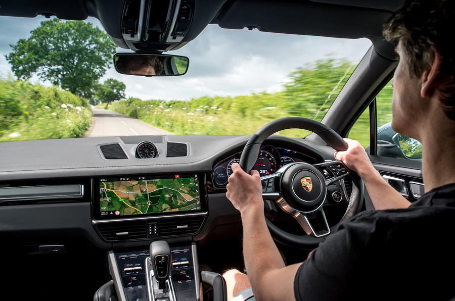 Porsche Cayenne 2018 UK first drive review Simon Davis driving