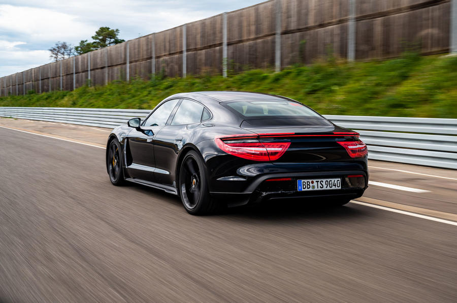 Porsche Taycan 2020 first drive review - track driving rear