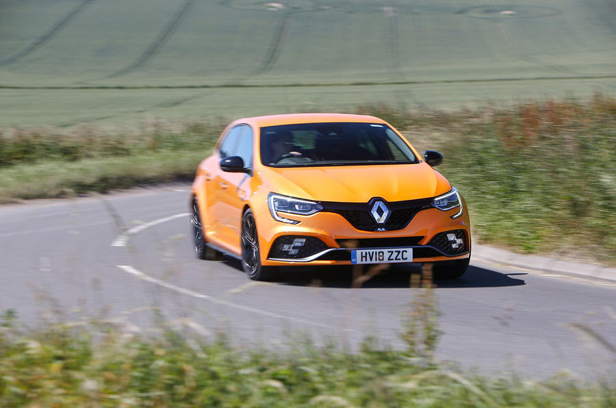 Renault Megane RS 2018 UK first drive cornering front left