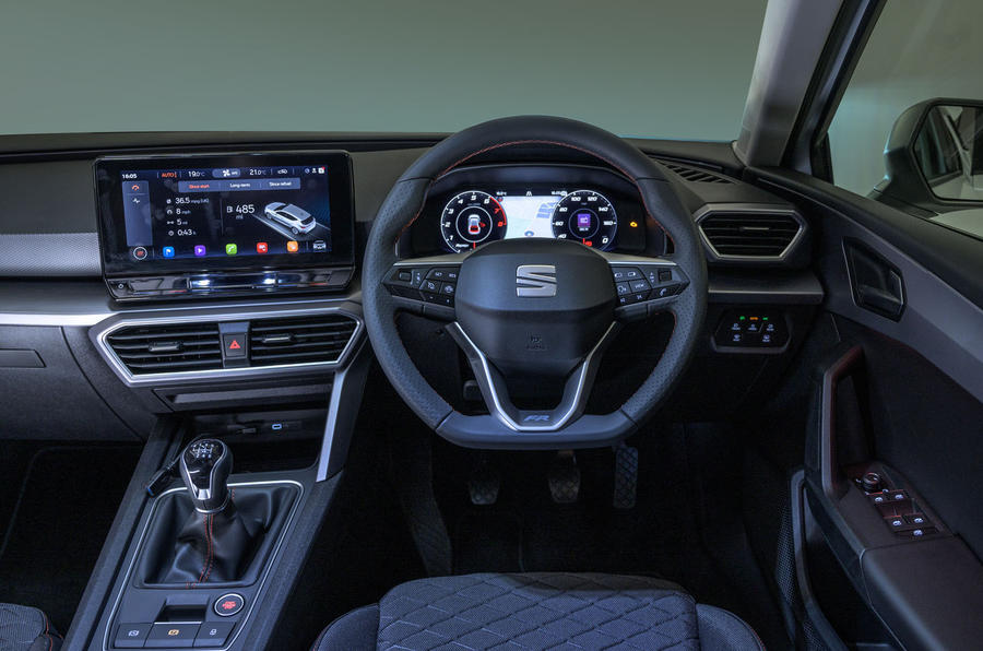 Seat Leon 2020 UK first drive review - dashboard