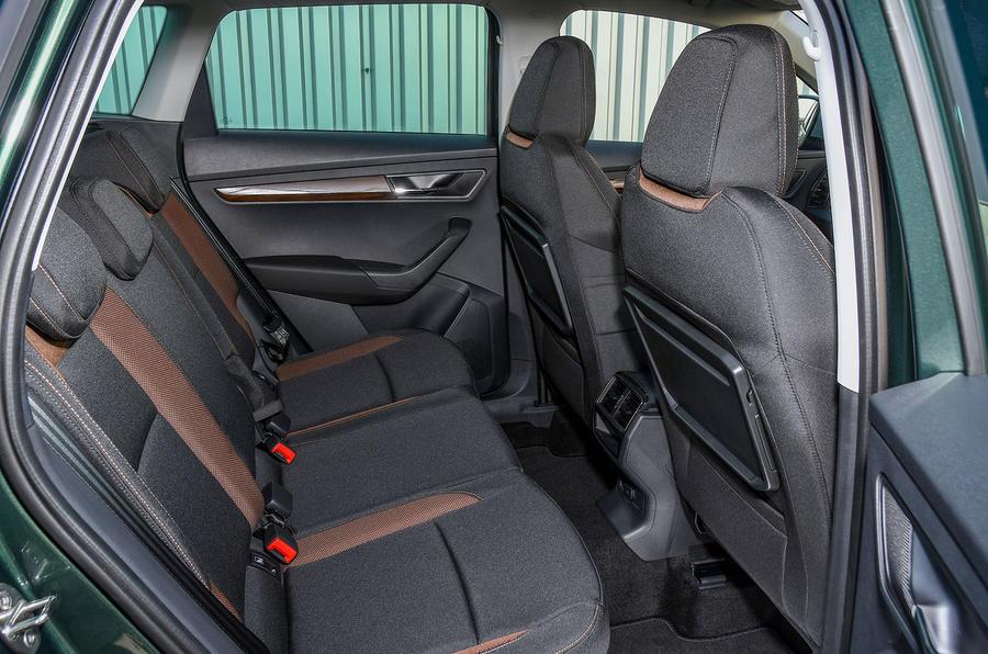 Skoda Karoq Scout 2019 first drive review - rear seats