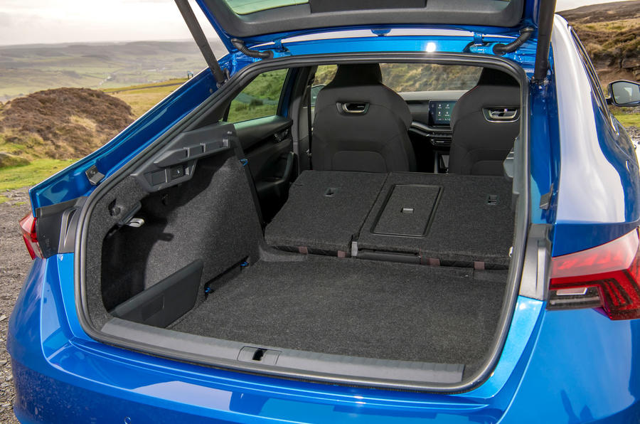 Skoda Octavia vRS TDI 2021 UK first drive review - boot