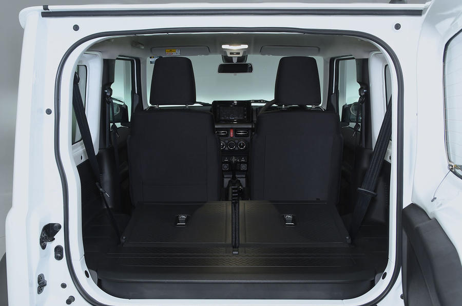 Suzuki Jimny 2018 UK first drive review - boot space seats down