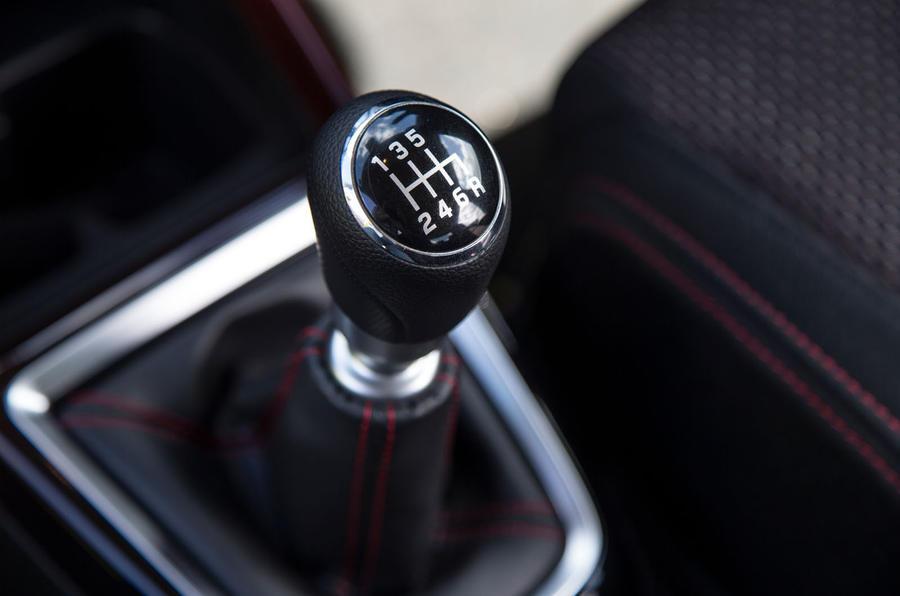 Suzuki Swift Sport 2018 long-term review gearstick