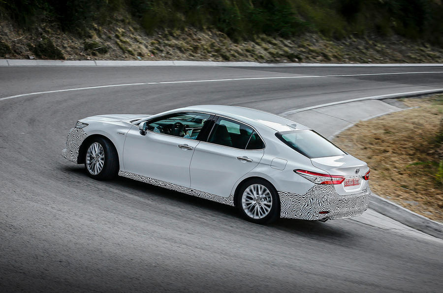 Toyota Camry 2019 first drive review cornering rear