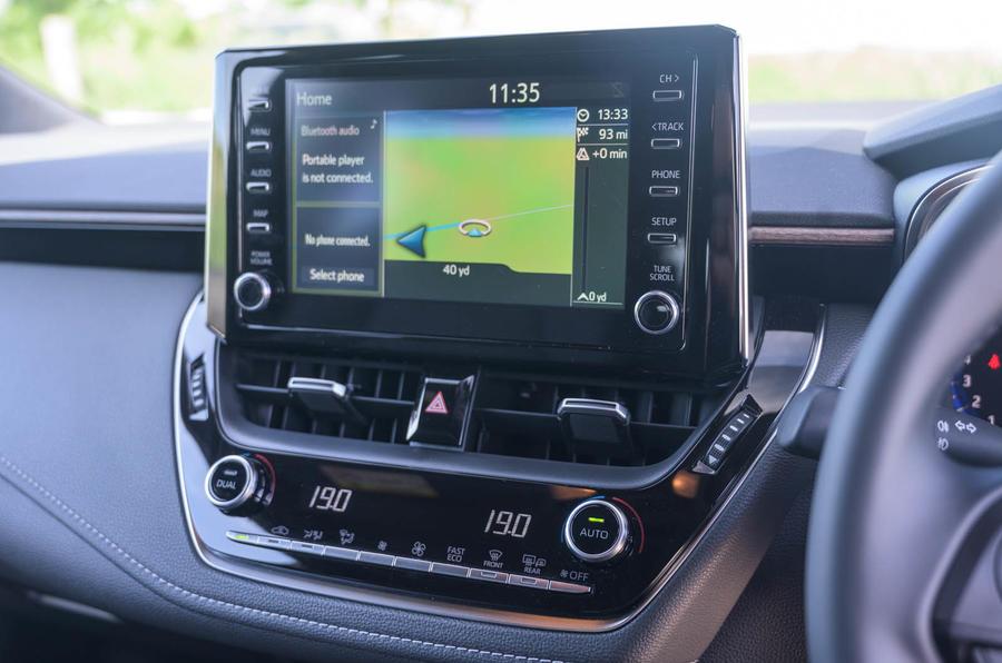 Toyota Corolla Trek 2020 UK first drive review - infotainment