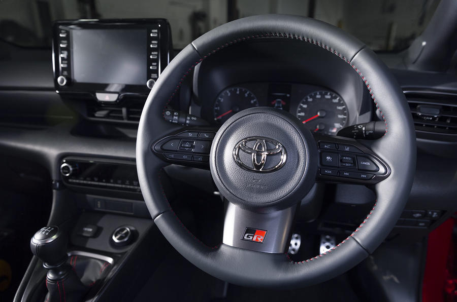 Toyota GR Yaris 2020 UK first drive review - steering wheel