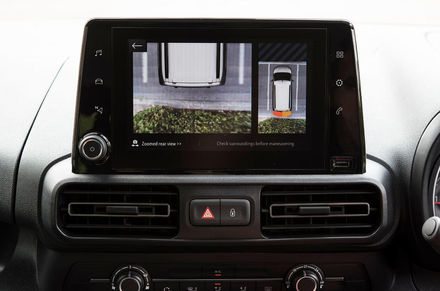 Vauxhall Combo Life 2018 UK first drive review rear view camera