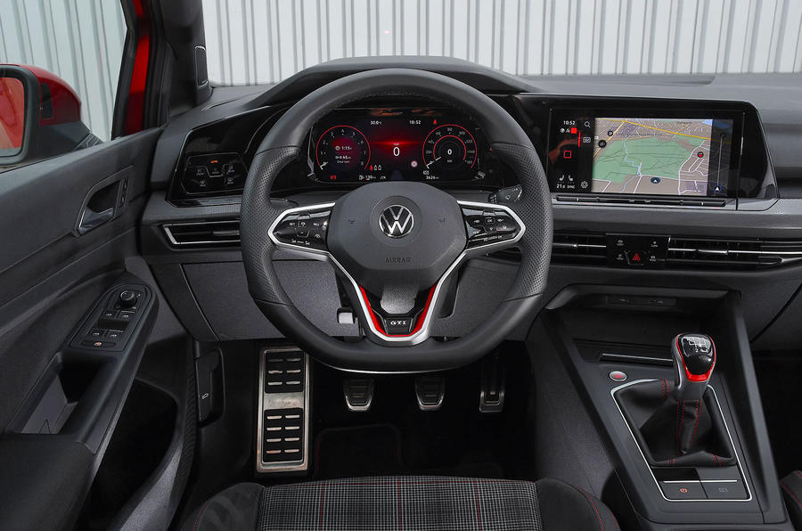 Volkswagen Golf GTI 2020 UK first drive review - dashboard
