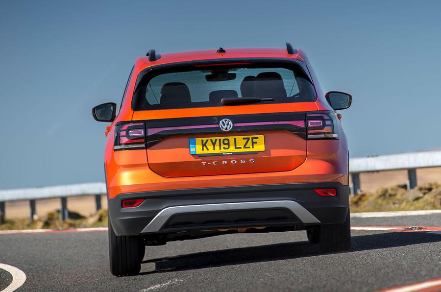 Volkswagen T-Cross 2019 UK first drive review - cornering rear